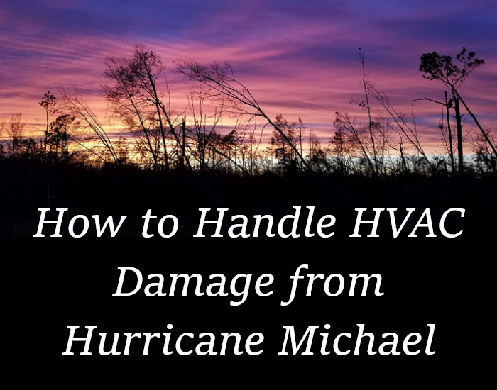 How to Handle HVAC Damage from Hurricane Michael